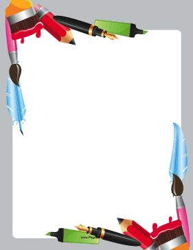 Painting clipart swoosh Are border artists Borders corners