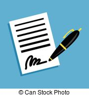 Pen clipart business document Of business Contract sign People