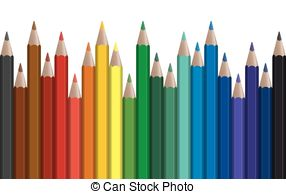 Pen clipart color pen Pens Colored  row