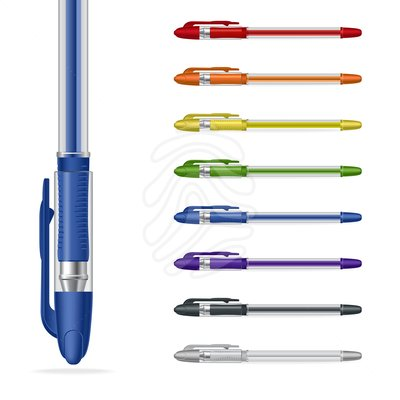 Pen clipart color pen Free pens Pens Bunch Plastic