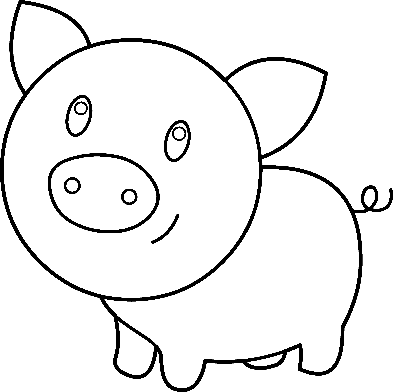 Amd clipart pig Easter Coloring pig Pig Best
