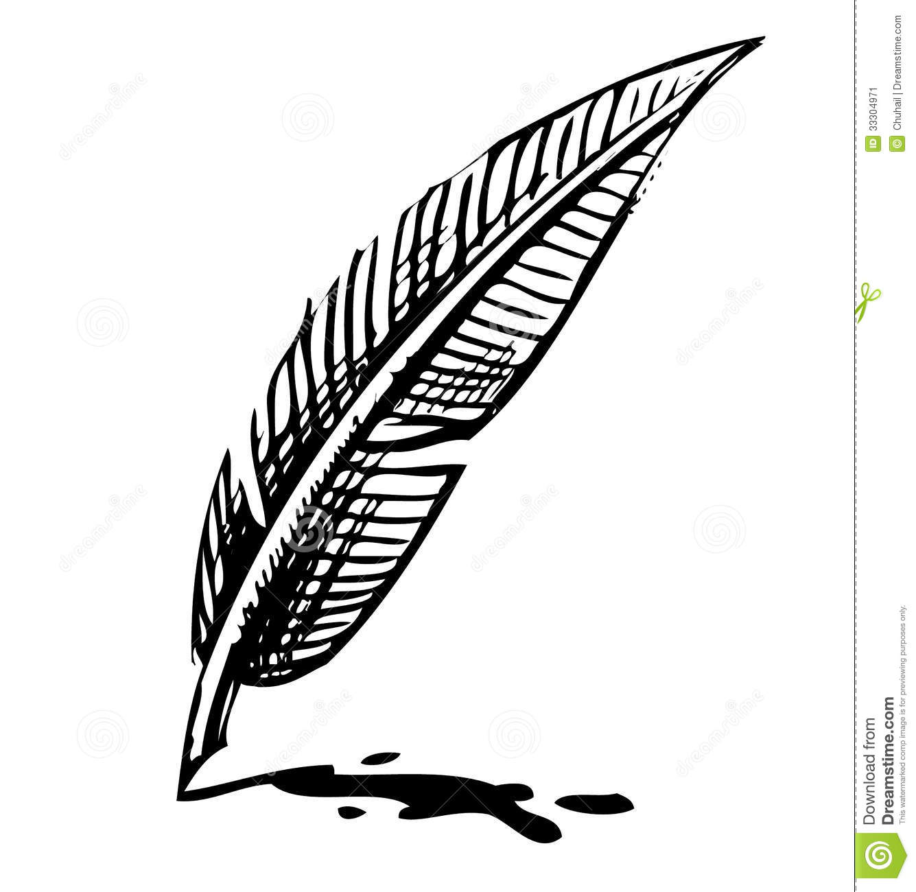 Quill clipart vintage #2