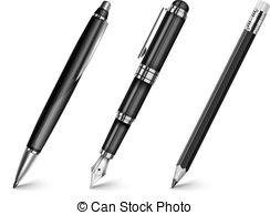 Pen clipart four Stock pencil  Black pen