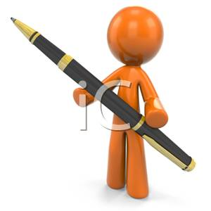 Pen clipart funny Holding Image a Man Man