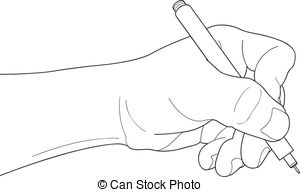 Pen clipart hand holding Pen over pen paper Hands