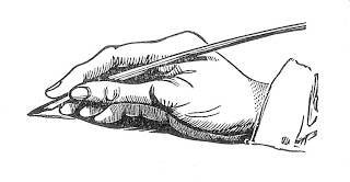 Pen clipart hand holding And Antique Art Images: Hand