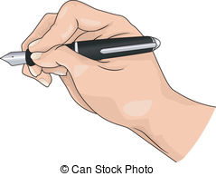 Pen clipart hand holding With of Writing hand with