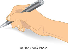 Pen clipart hand holding Holding Position Vector hand Clip