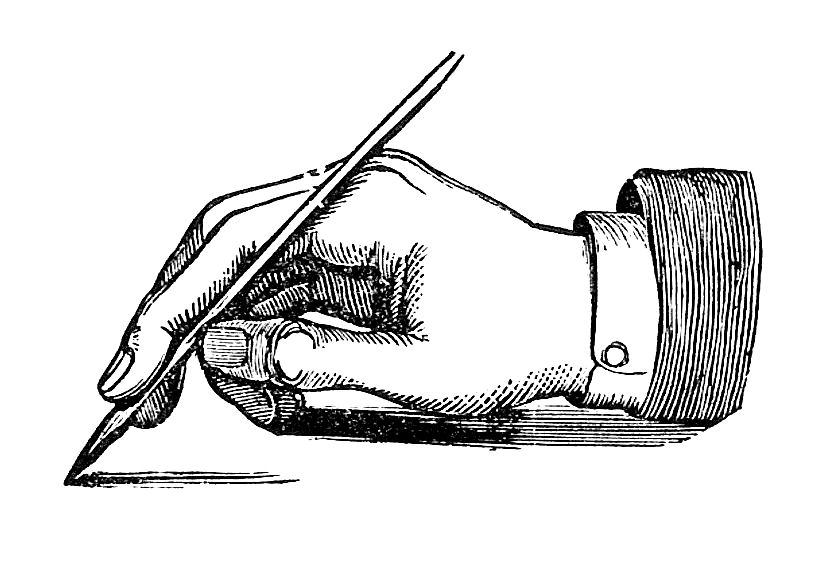 Pen clipart hand pen Antique Clip and Holding Graphic: