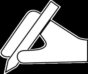 Pen clipart hand pen Clker Art Art Pen Hand
