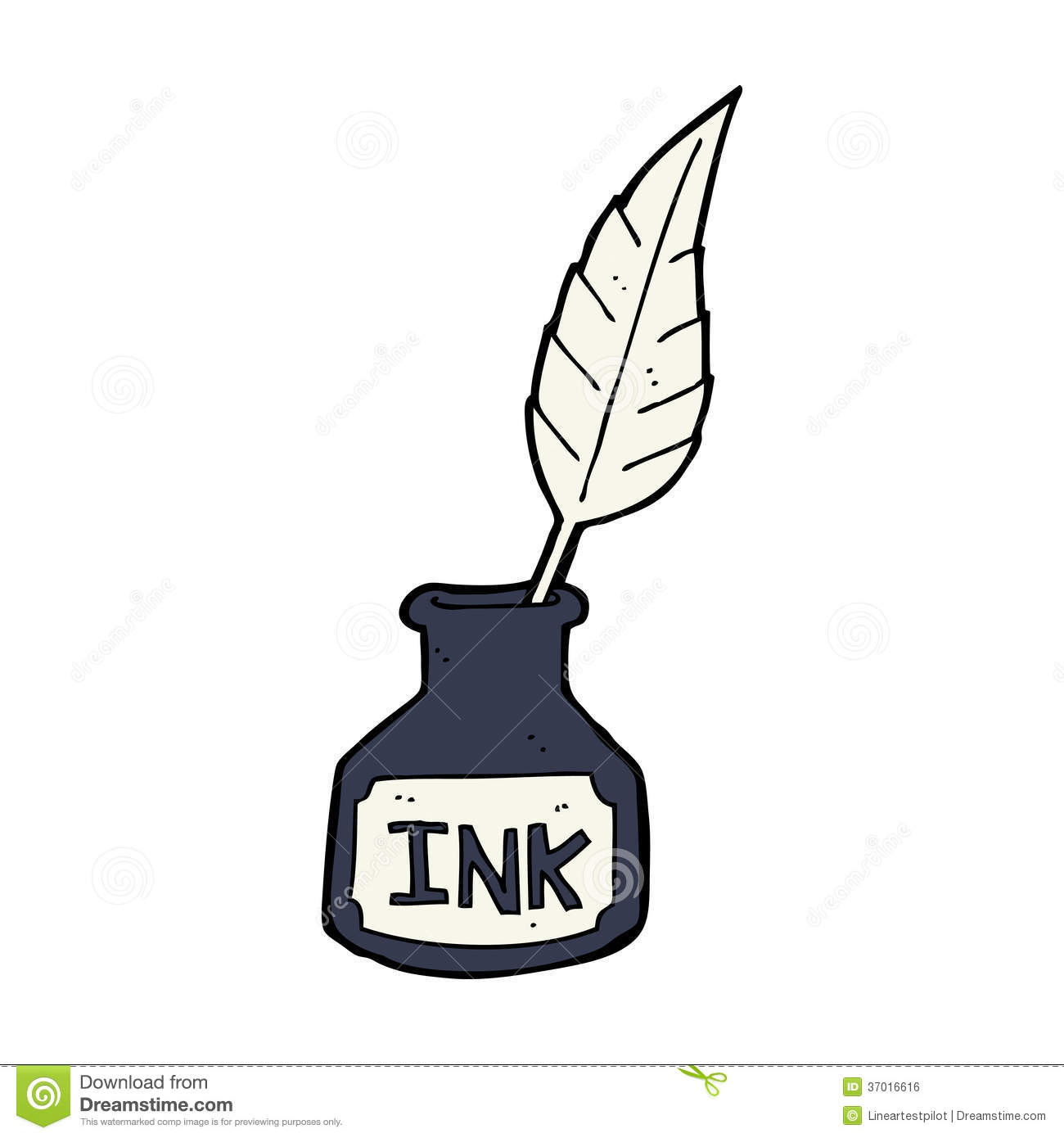 Quill clipart cartoon Ink bottle ink Ink clipart