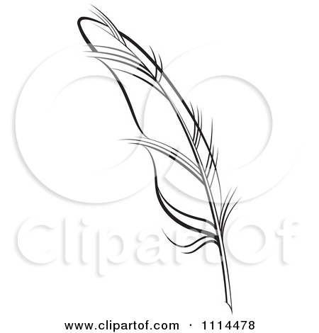 Pen clipart ink quill Black White Near Free Feather