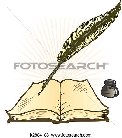 Pen clipart leaf Quill and Open Art with