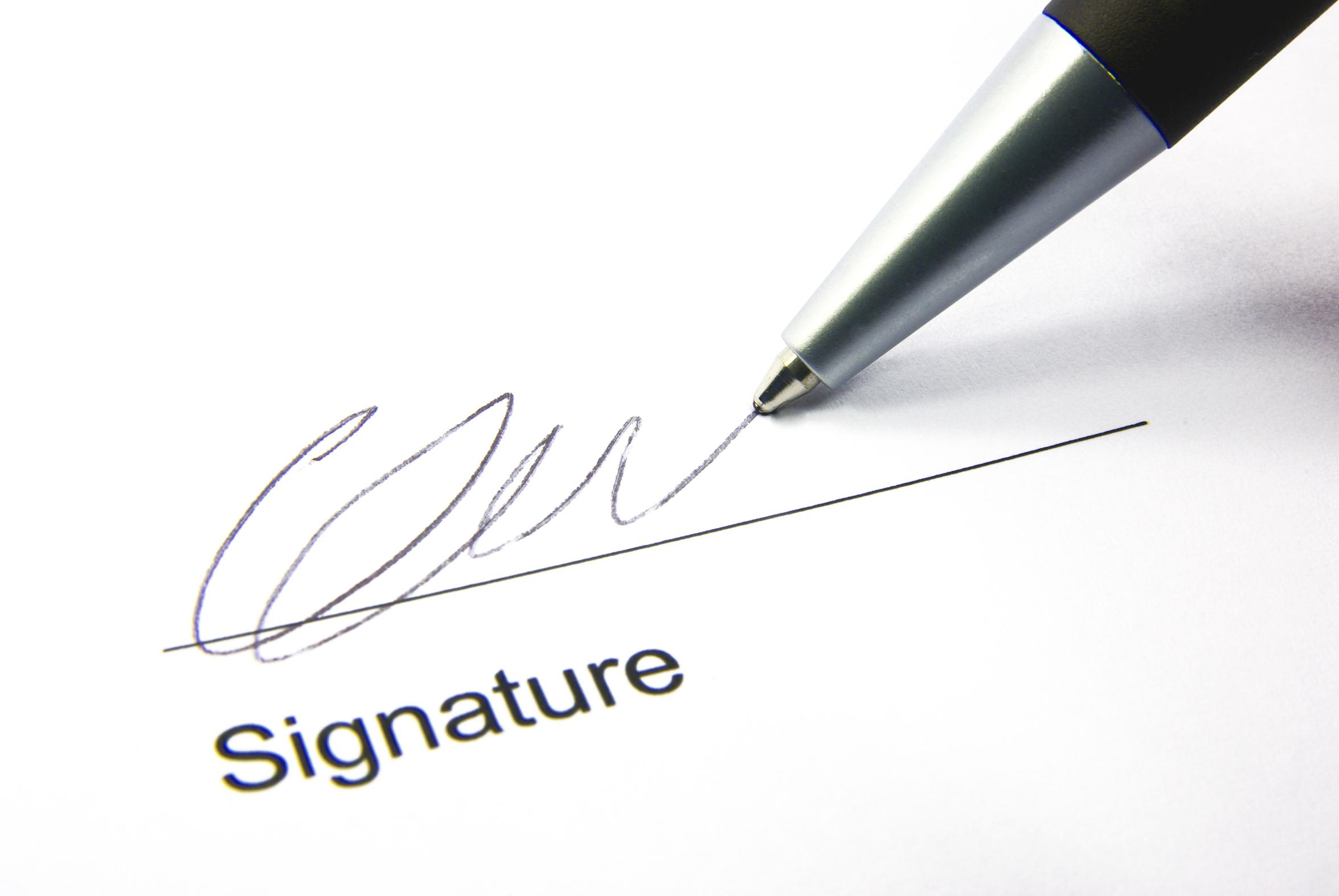 Pen clipart parent signature Trust Signature Kids we Art