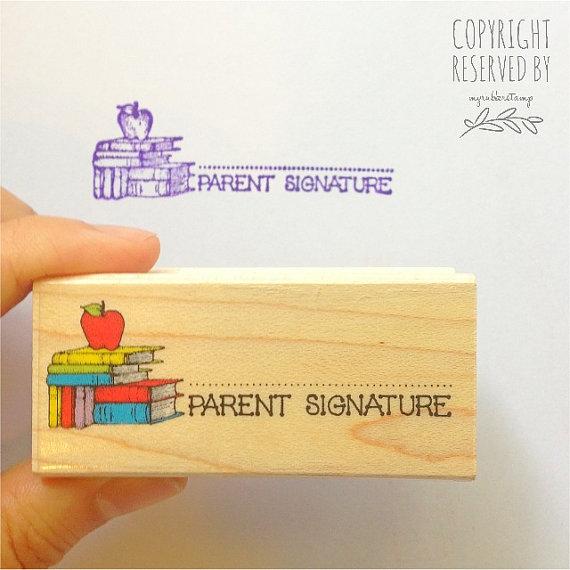 Pen clipart parent signature • Stamp Apple Rubber Rubber