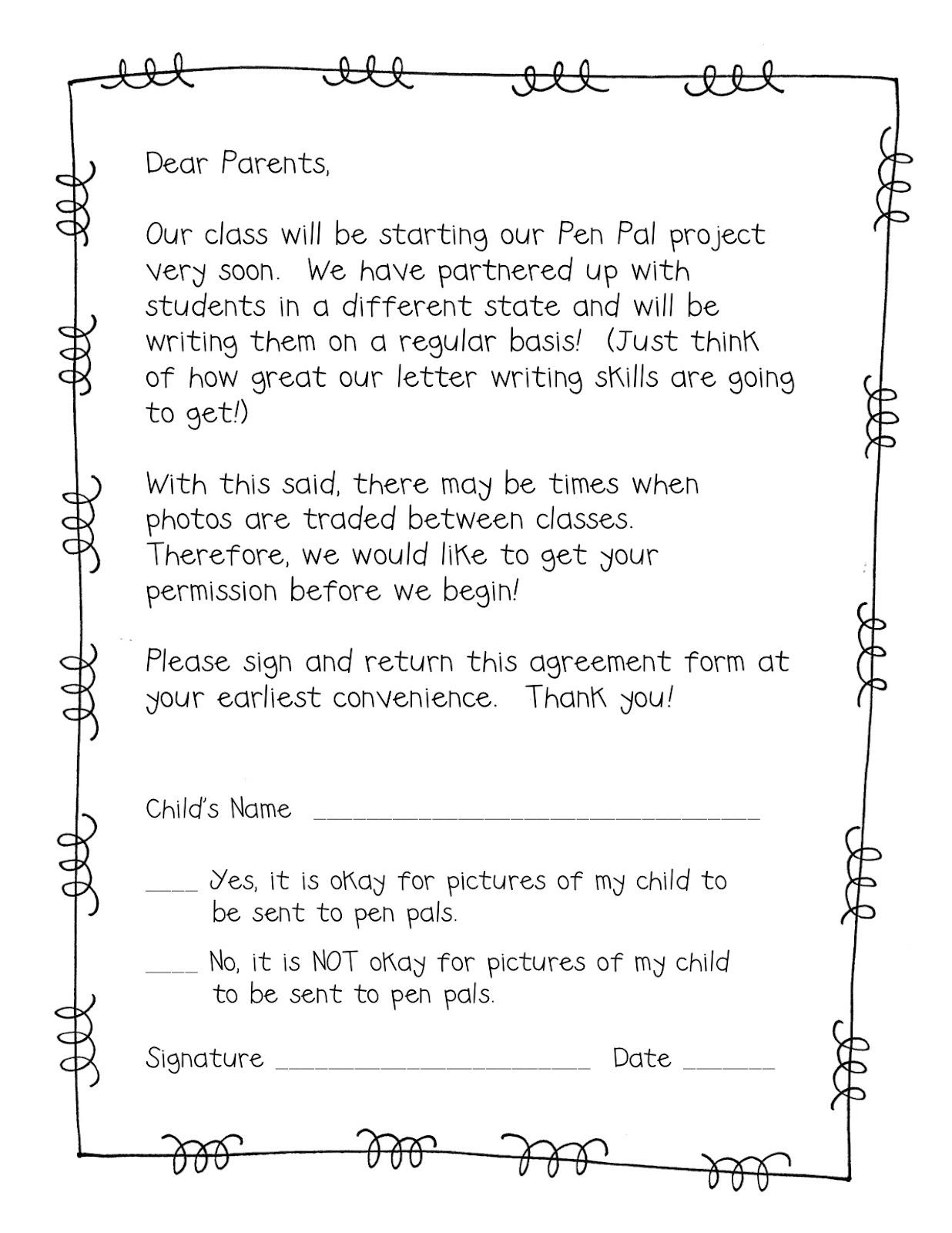 Pen clipart parent signature Pen Freebie Parent Permission School