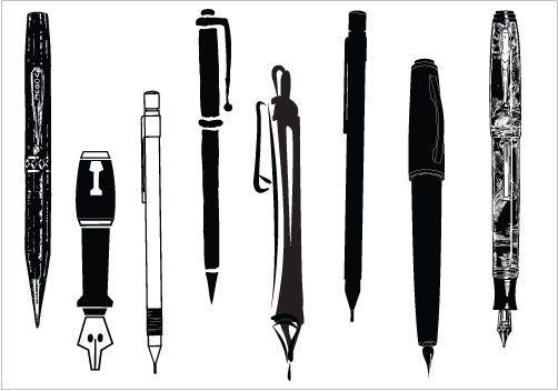 Pen clipart pecil Silhouette Art Pinterest Clip art
