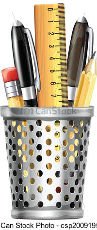 Pen clipart pen pencil And Box csp20091950 of Ruler