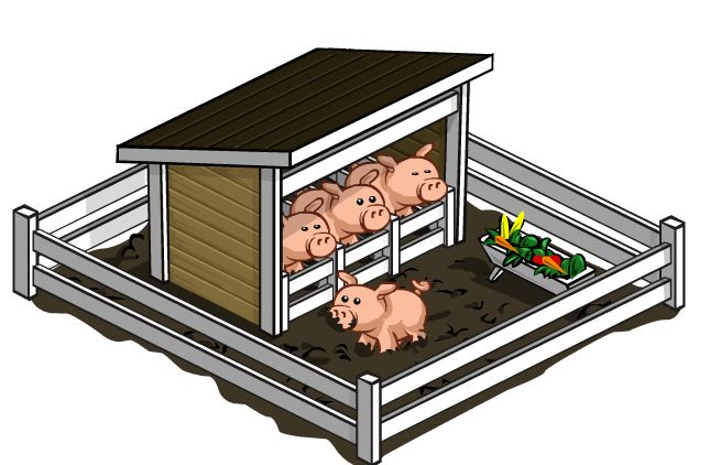 Pen clipart pig Arrived to FarmVille Everything AOL