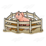 Pen clipart pig Pen Muddy Abeka Art in