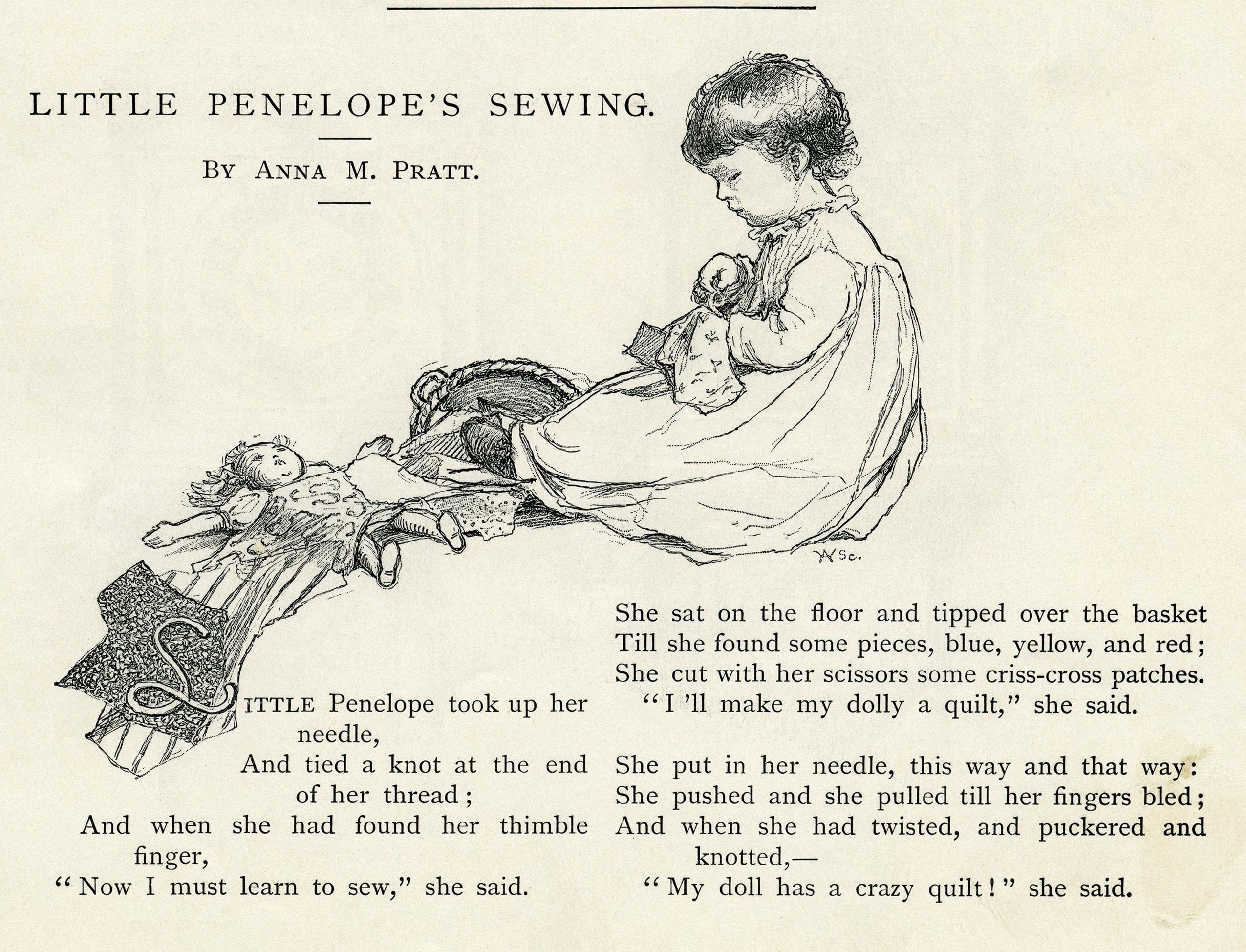 Pen clipart quilt Little Penelope's clip black girl