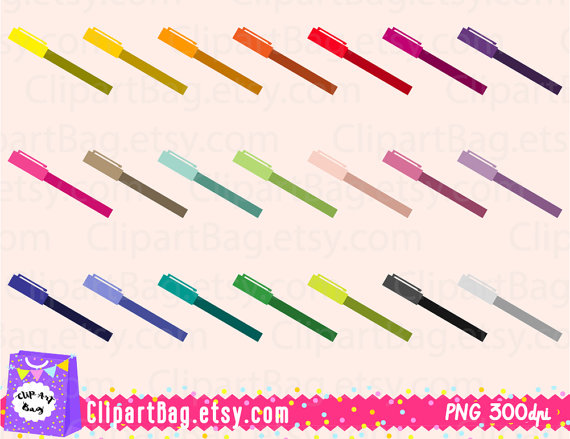Pen clipart school supply Digital art on clipart pencil