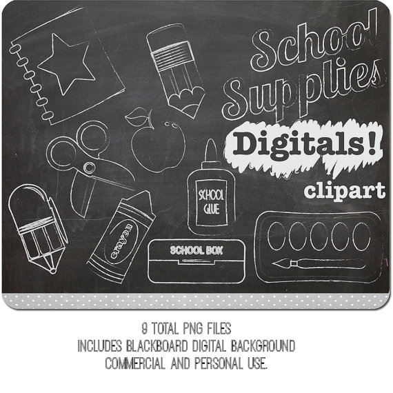 Pen clipart school supply Chalk School Scissors clipart supply