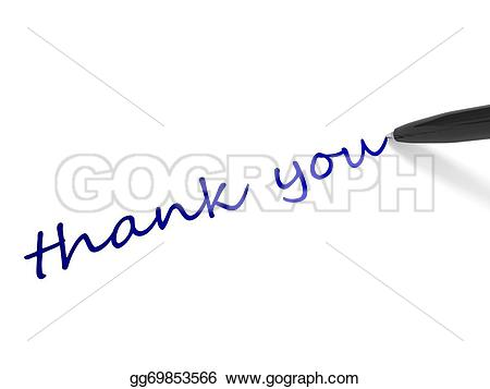 Pen clipart thankyou White you Clipart Stock Stock