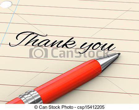Pen clipart thankyou Stock render thank pen of