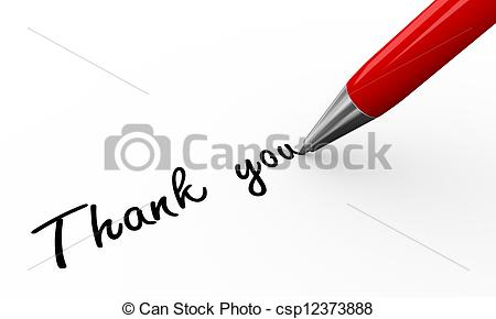 Pen clipart thankyou Illustration a 3d writing 3d