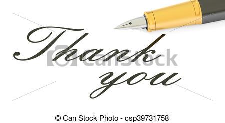 Pen clipart thankyou Pen fountain you text and