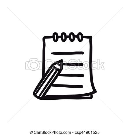 Pen clipart writing pad Icon of Writing Illustration Writing
