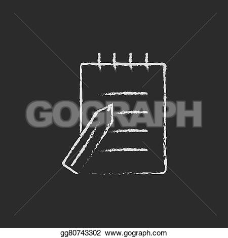 Pen clipart writing pad Icon chalk gg80743302 Illustrations in