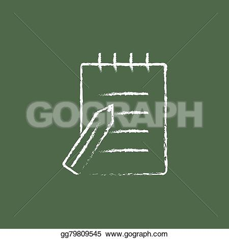 Pen clipart writing pad Icon chalk Illustration Vector in