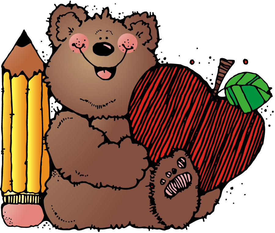 Bear clipart student Clipart Cliparts with pencil Cliparts