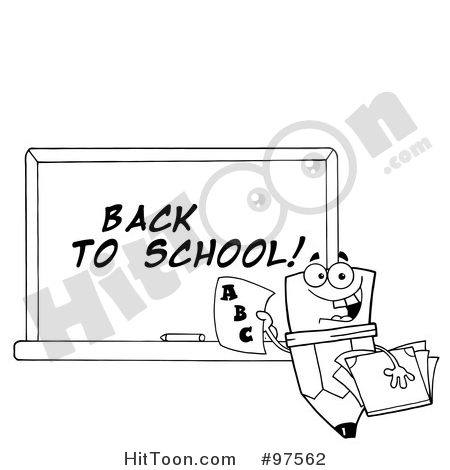 Pencil clipart chalkboard A Character Character Clipart #97562