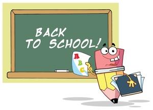 Pencil clipart chalkboard On Smiling School School Back
