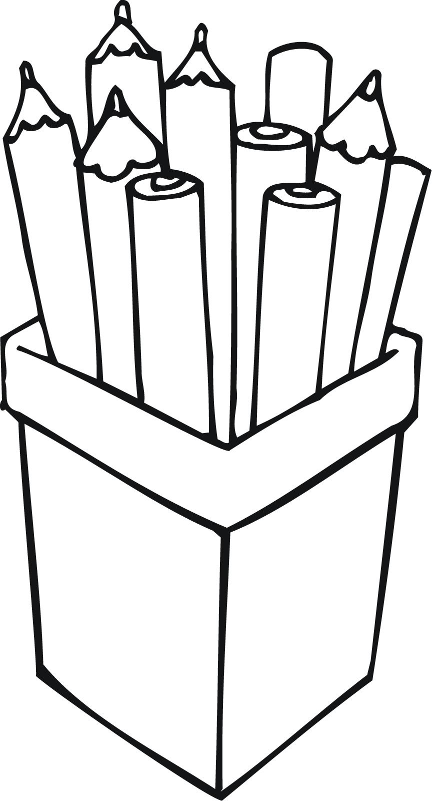 Pencil clipart container Printable a container Point pencils