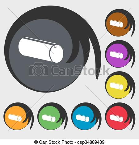 Pencil clipart eight Case Symbols colored buttons