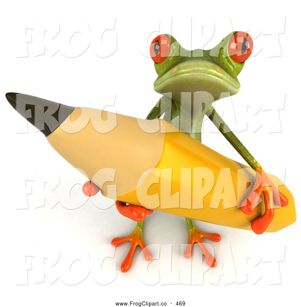Pencil clipart frog Designs Frog  Stock Free