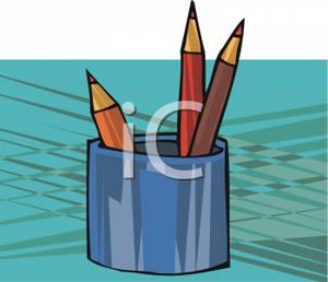 Pencil clipart jar A in in a clipart