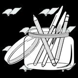 Pencil clipart jar Pens Jar—with Abeka Jar and