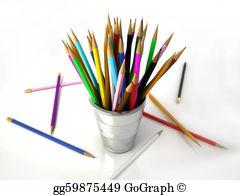 Pencil clipart jar White pencils the a jar