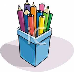 Pencil clipart jar Pencils Colored a Art In
