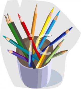 Pencil clipart jar Free Colored Panda Pencils Clipart