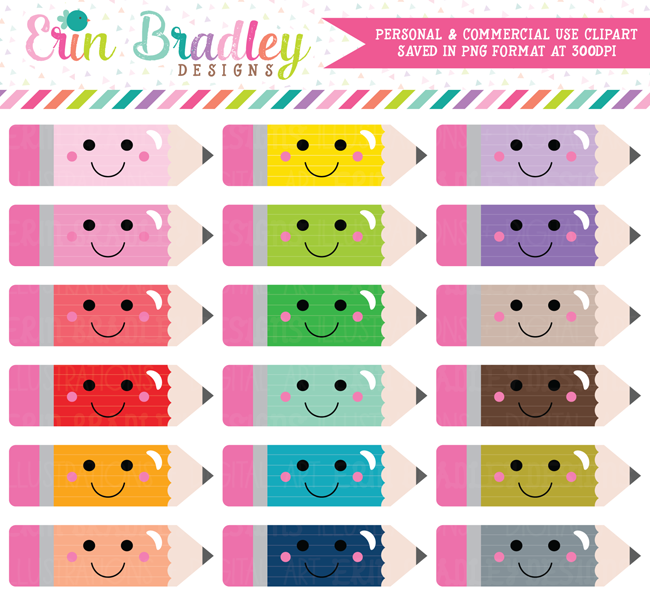 Pencil clipart kawaii Obsession Bradley/Ink Pencils Kawaii Designs