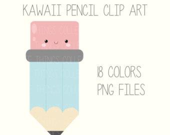 Pencil clipart kawaii Scrapbooking Sticker Kawaii Card Face
