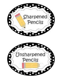 Pencil clipart label Labels a labels Sharpened Pencils