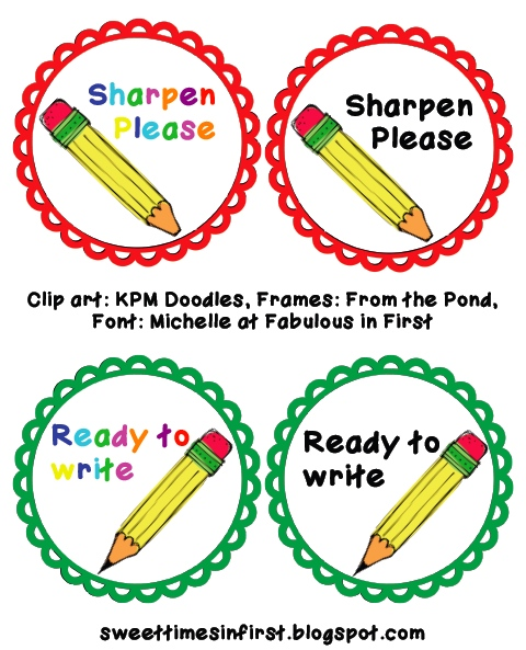 Pencil clipart label Times interested Label you click