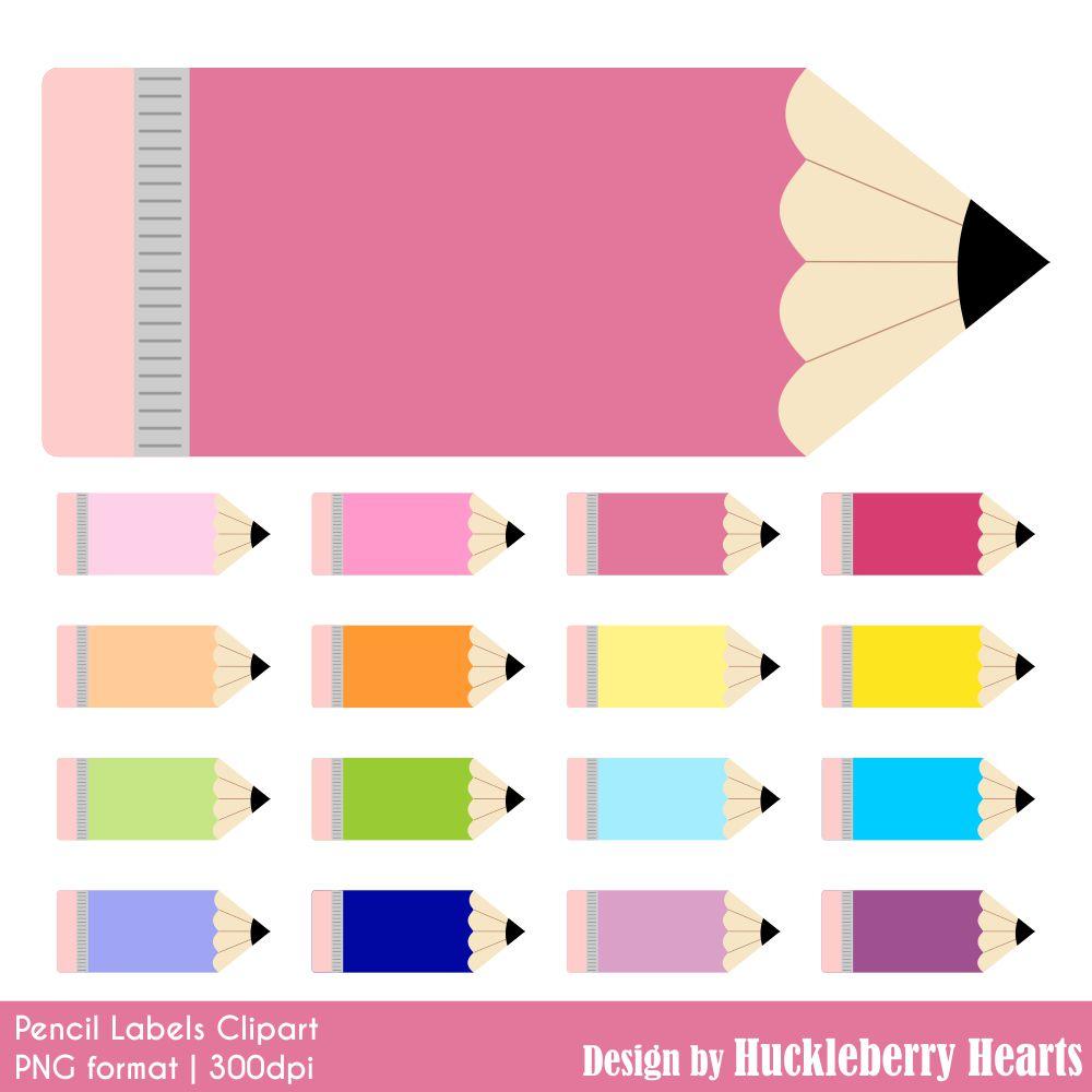 Pencil clipart label Pencil Labels Hearts Huckleberry Label